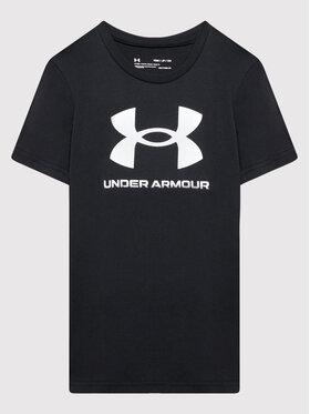 Under Armour Under Armour Póló Ua Sportstyle Logo 1363282 Fekete Loose Fit