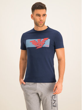 EA7 Emporio Armani EA7 Emporio Armani T-Shirt 3HPT48 PJT3Z 1554 Σκούρο μπλε Regular Fit
