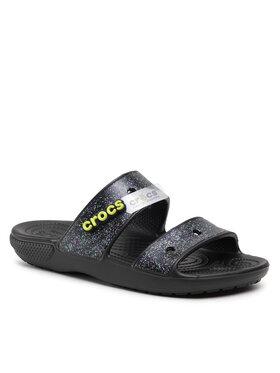Crocs Crocs Шльопанці Classic Crocs Glitter Sandal 207309 Чорний