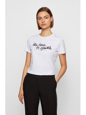 Boss Boss T-Shirt C_Esparkle 50446627 Biały Regular Fit
