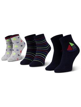 Mayoral Mayoral Комплект 3 чифта дълги чорапи детски 10736 Тъмносин