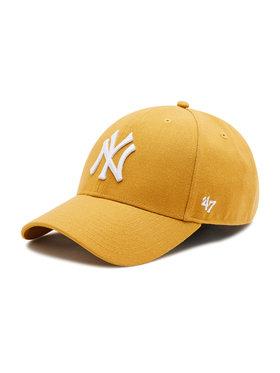 47 Brand 47 Brand Czapka z daszkiem New York Yankees B-MVPSP17WBP-WE Żółty