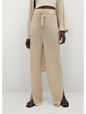 Mango Mango Pantaloni din material Tobias 87097122 Bej Regular Fit