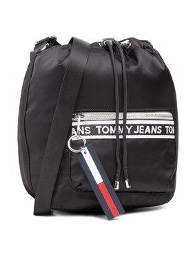 Tommy Jeans Tommy Jeans Дамска чанта Tjw Mini Logo Tape Bucket AW0AW09894 Черен