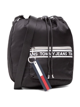 Tommy Jeans Tommy Jeans Kabelka Tjw Mini Logo Tape Bucket AW0AW09894 Černá