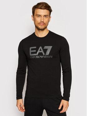 EA7 Emporio Armani EA7 Emporio Armani Тениска с дълъг ръкав 6KPT64 PJ03Z 1200 Черен Regular Fit