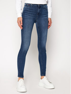 Tommy Jeans Tommy Jeans Τζιν Skinny Fit Mid Rise Nora DW0DW04414 Σκούρο μπλε Skinny Fit