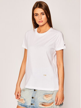 Tommy Hilfiger Tommy Hilfiger T-shirt Th Cool WW0WW28386 Blanc Relaxed Fit