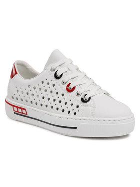 Rieker Rieker Sneakersy L8895-80 Biały