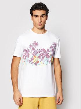 Quiksilver Quiksilver T-Shirt Mystic Sunset EQYZT06340 Bílá Regular Fit