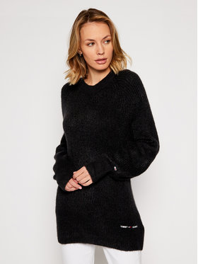 Tommy Jeans Tommy Jeans Pulover Lofty Yarn DW0DW09137 Negru Relaxed fit