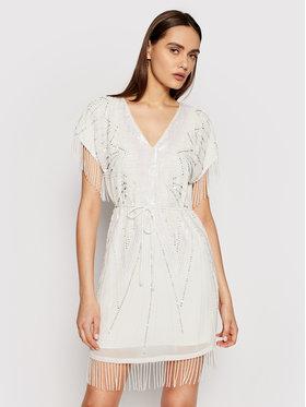TwinSet TwinSet Koktel haljina 211TT2621 Bijela Regular Fit