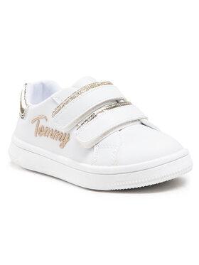 Tommy Hilfiger Tommy Hilfiger Sneakersy Low Cut Velcro Sneaker T1A4-31017-1189 M Biały