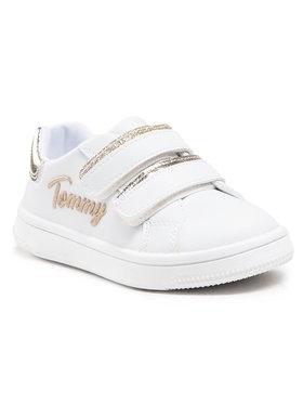Tommy Hilfiger Tommy Hilfiger Sneakersy Low Cut Velcro Sneaker T1A4-31017-1189 M Bílá