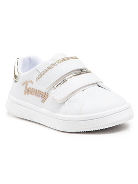 Tommy Hilfiger Tommy Hilfiger Сникърси Low Cut Velcro Sneaker T1A4-31017-1189 M Бял