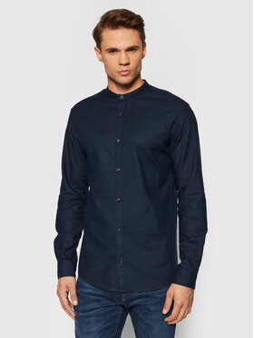 Jack&Jones PREMIUM Jack&Jones PREMIUM Marškiniai Blawinter 12196944 Tamsiai mėlyna Slim Fit