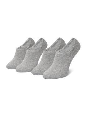 Tommy Hilfiger Tommy Hilfiger Súprava 2 párov kotníkových ponožiek dámskych 383024001 Sivá