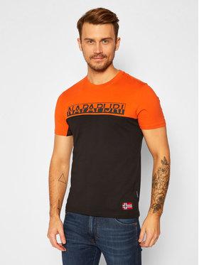 Napapijri Napapijri T-Shirt Ice Ss Cb NP0A4ETN Kolorowy Regular Fit