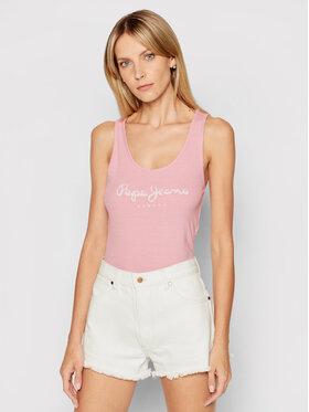 Pepe Jeans Pepe Jeans Top Dunia PL504853 Różowy Regular Fit