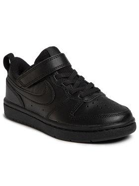 Nike Nike Обувки Court Borough Low 2 (PSV) BQ5451 001 Черен