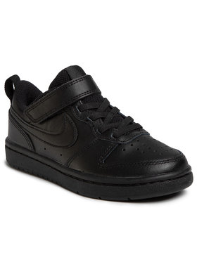 Nike Nike Παπούτσια Court Borough Low 2 (PSV) BQ5451 001 Μαύρο