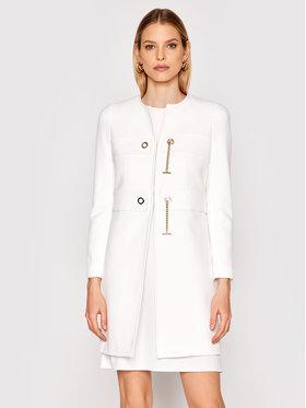 Rinascimento Rinascimento Płaszcz przejściowy CFC0102462003 Biały Regular Fit