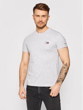 Tommy Jeans Tommy Jeans Marškinėliai Tjm chest Logo Tee DM0DM10099 Pilka Regular Fit