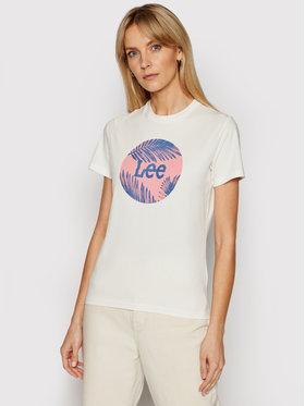 Lee Lee T-Shirt Circle L40TEHMK Beige Regular FIt