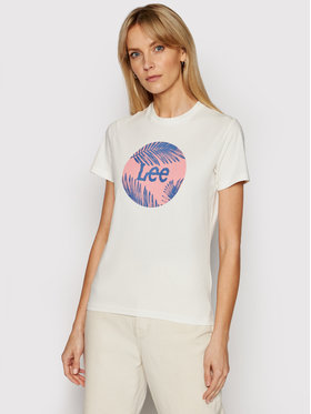 Lee Lee T-Shirt Circle L40TEHMK Béžová Regular FIt