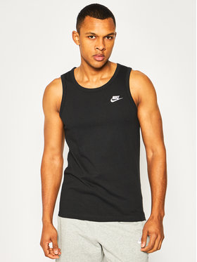 NIKE NIKE Tank top marškinėliai Club BQ1260 Juoda Standard Fit