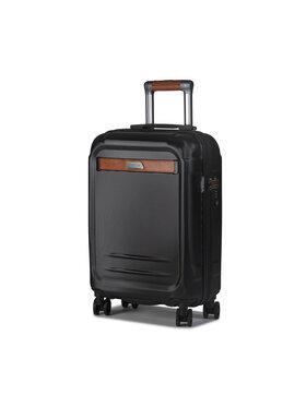 Puccini Puccini Kis kemény borítású bőrönd Stockholm PC020C Fekete