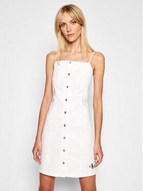 Calvin Klein Jeans Calvin Klein Jeans Kasdieninė suknelė J20J215673 Balta Slim Fit