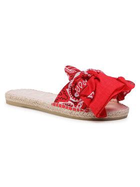 Manebi Manebi Εσπαντρίγιες Sandals With Bow F 9.4 J0 Κόκκινο