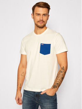 Tommy Jeans Tommy Jeans Póló DM0DM09370 Fehér Regular Fit