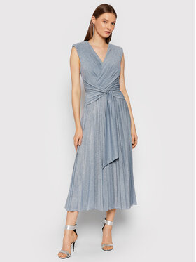 Rinascimento Rinascimento Večerné šaty CFC0105077003 Modrá Slim Fit
