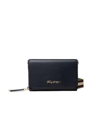 Tommy Hilfiger Tommy Hilfiger Handtasche Iconic Tommy Crossover AW0AW10117 Dunkelblau
