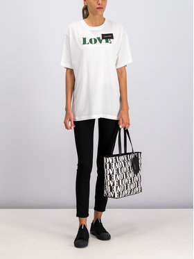 Calvin Klein Calvin Klein T-Shirt Prt Love Logo T-Shirt Ss K20K201090 Biały Regular Fit
