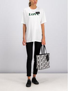 Calvin Klein Calvin Klein T-Shirt Prt Love Logo T-Shirt Ss K20K201090 Bílá Regular Fit
