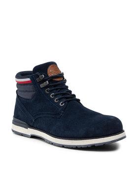 Tommy Hilfiger Tommy Hilfiger Зимни обувки Outdoor Suede Hilfiger Boot FM0FM03817 Тъмносин