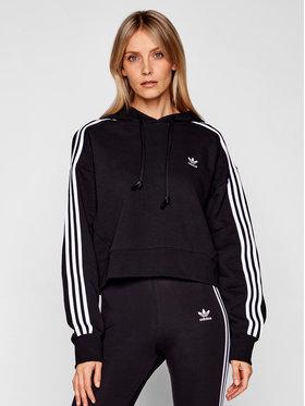 adidas adidas Bluză adicolor Classics Crop GN2890 Negru Loose Fit