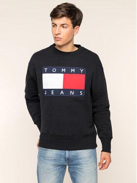 Tommy Jeans Tommy Jeans Mikina TJM Tommy Flag Crew DM0DM07201 Čierna Regular Fit