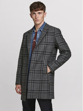 Jack&Jones PREMIUM Jack&Jones PREMIUM Demisezoninis paltas Blamoulder Check 12175885 Pilka Regular Fit