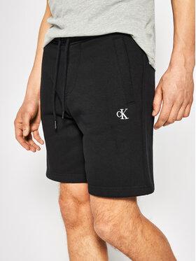 Calvin Klein Jeans Calvin Klein Jeans Szorty sportowe Fleece Jogger Shorts J30J314675 Czarny Regular Fit