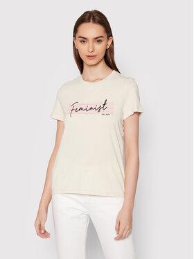 Vero Moda Vero Moda T-Shirt Feminist 10262918 Szary Regular Fit