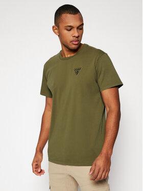 Guess Guess T-Shirt M1GI56 K8HM0 Zielony Regular Fit