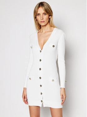 Pinko Pinko Sukienka dzianinowa Parapendio PE 21 BLK01 1G15TU Y6Z9 Biały Slim Fit