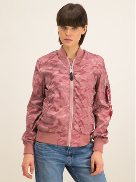Alpha Industries Alpha Industries Bunda bomber Ma-1 Vflw Shiny Como 186014 Růžová Slim Fit