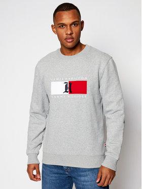 Tommy Hilfiger Tommy Hilfiger Sweatshirt LEWIS HAMILTON Fleece Logo Crew MW0MW15290 Gris Regular Fit