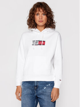 Tommy Jeans Tommy Jeans Pulóver Tjw Timeless DW0DW11055 Fehér Regular Fit