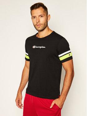 Champion Champion Marškinėliai Scripe Detail Script Logo 214267 Juoda Comfort Fit